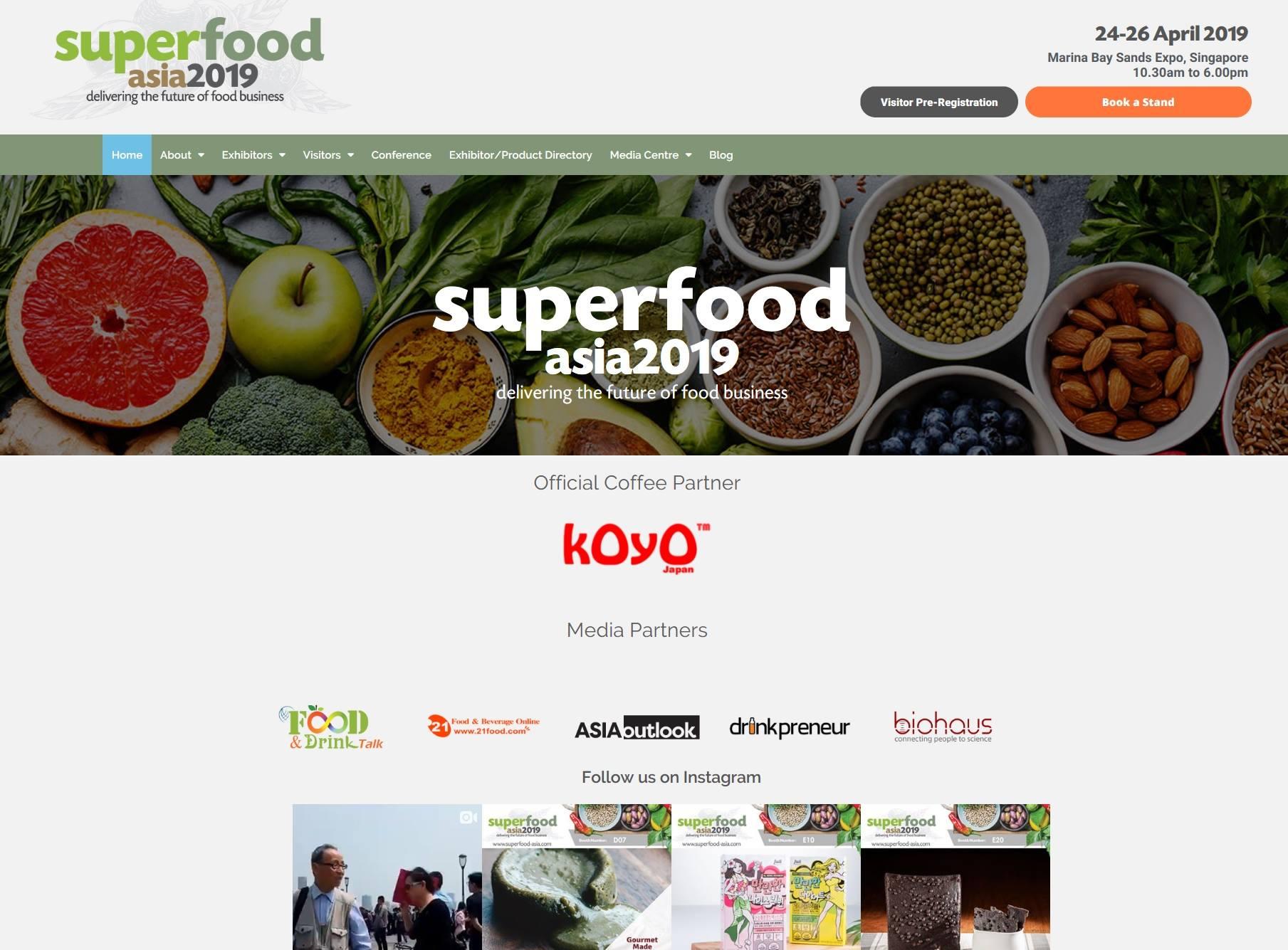 Koyo At Superfood Fair Singapore 2019